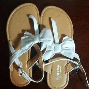 GIRLS SONOMA LIFE STYLE WHITE SANDLES